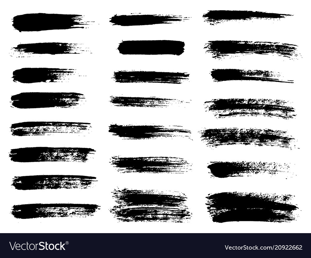 Painted grunge stripes set black labels