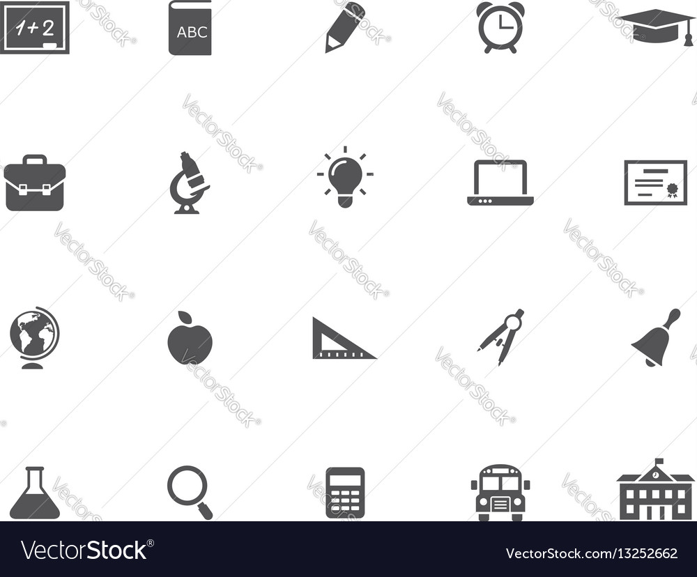 Set of 20 education icons vector image