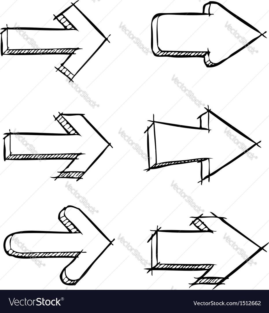 Set of arrows drawn