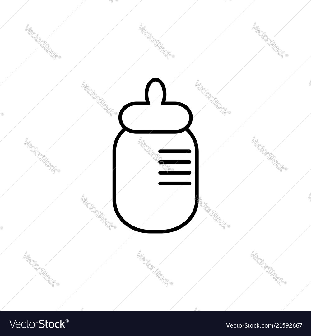 Baby milk bottle flat icon