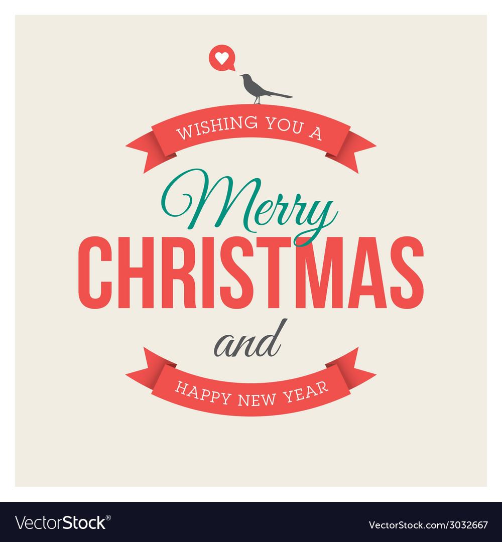 Christmas card label