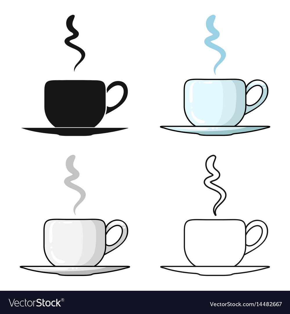 Coffee cup icon in cartoon style isolated on white vector image
