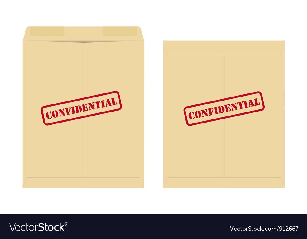 Confidential envelope vector image