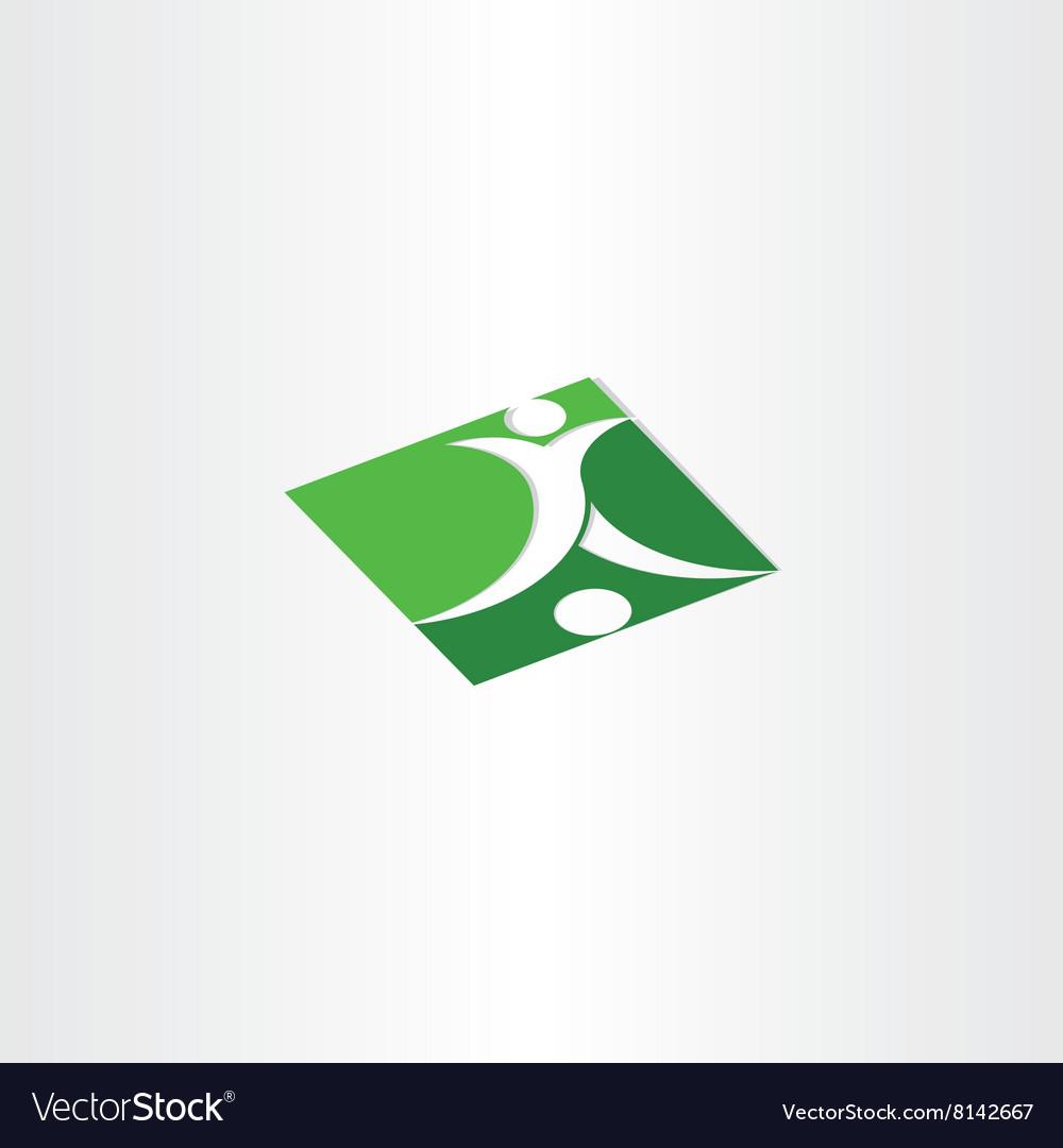 Footballer shooting soccer green icon
