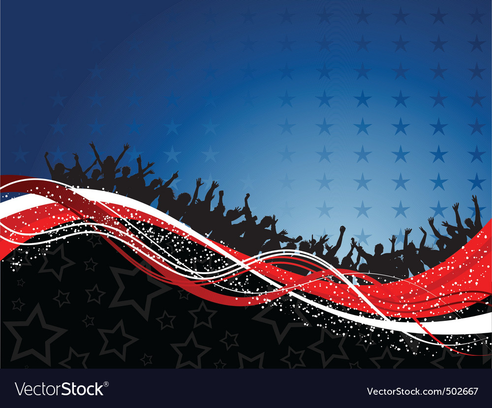 Fourth of July party background vector image