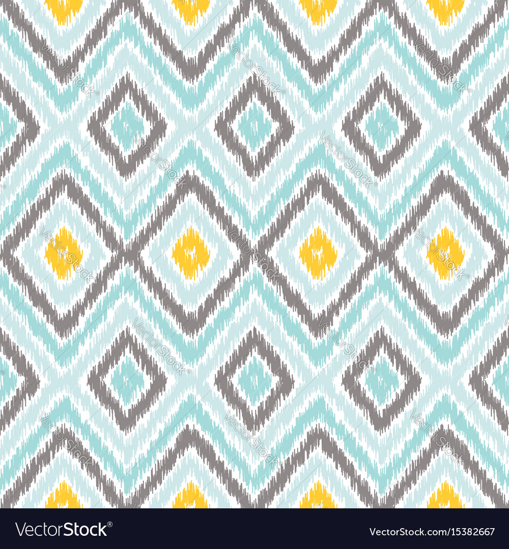 Ikat Fabric Style Rug Texture Pattern