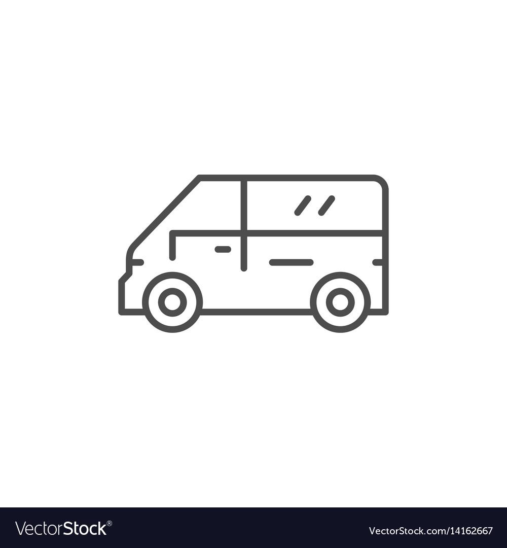 Mini bus line icon
