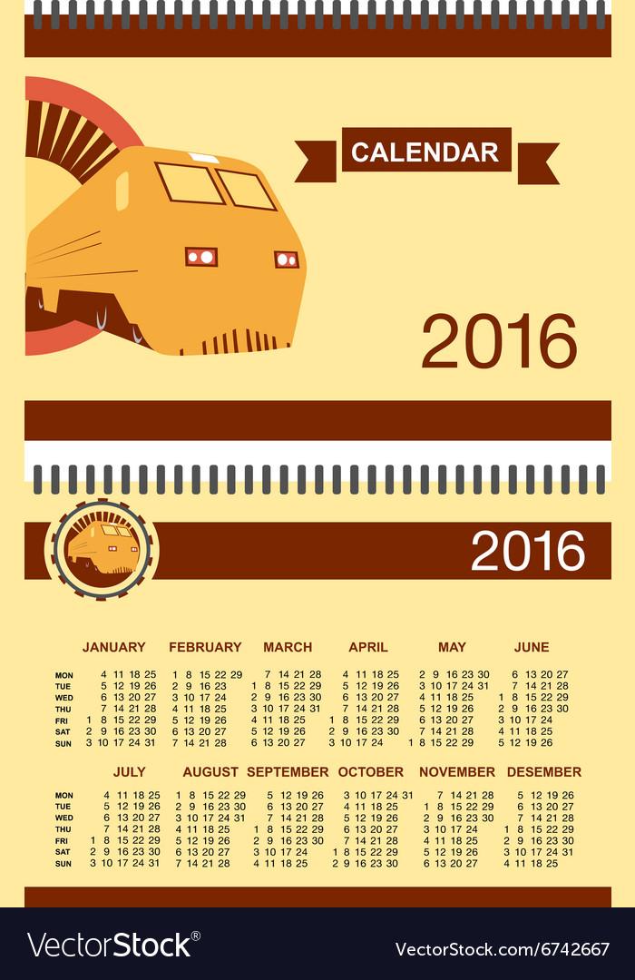 Rail Road Calendar