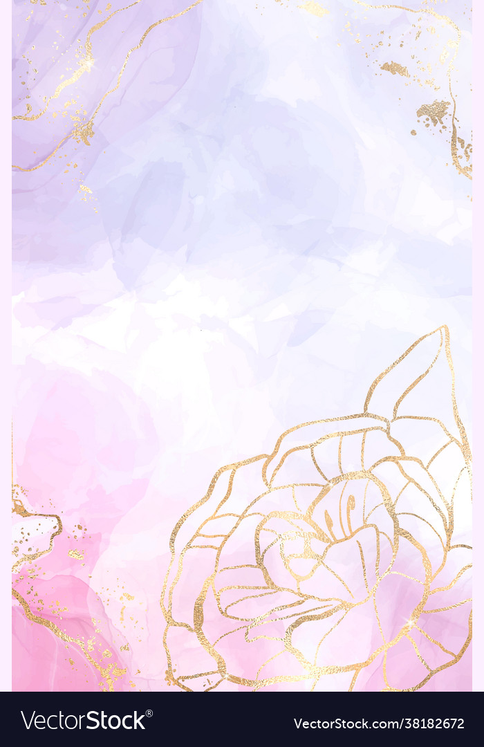 Abstract lavender liquid watercolor background