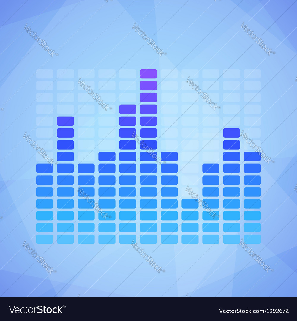 Blue Equalizer vector image