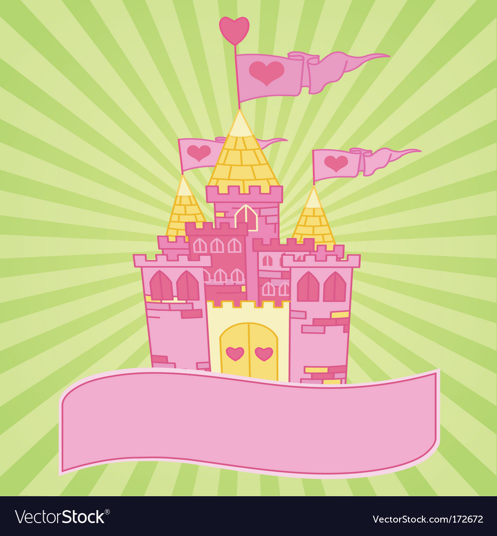 Castle background vector image
