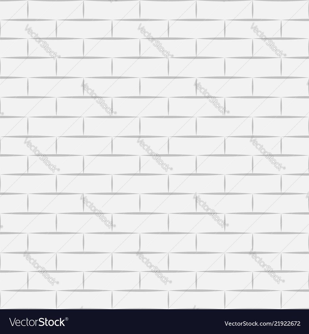 Ceramic White Brick Tile Wall Eps