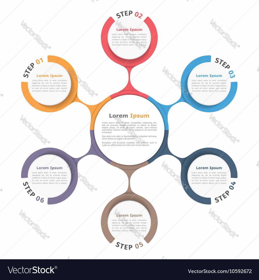 Circle diagram six elements royalty free vector image circle diagram six elements vector image ccuart Choice Image