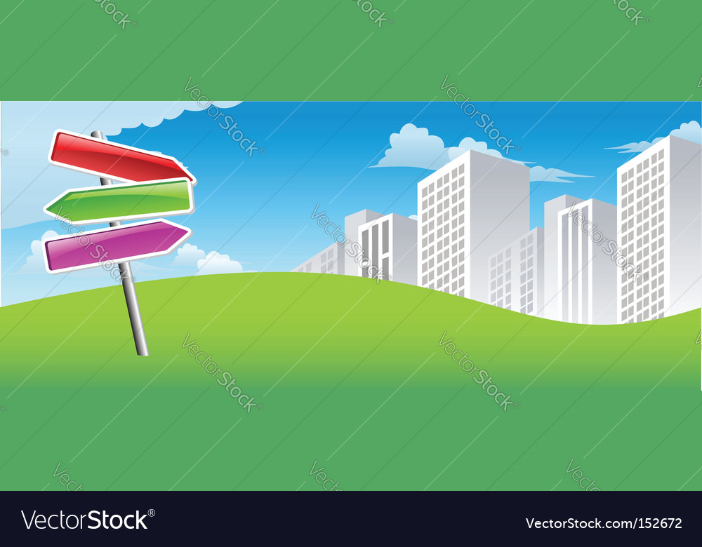 City signs vector image