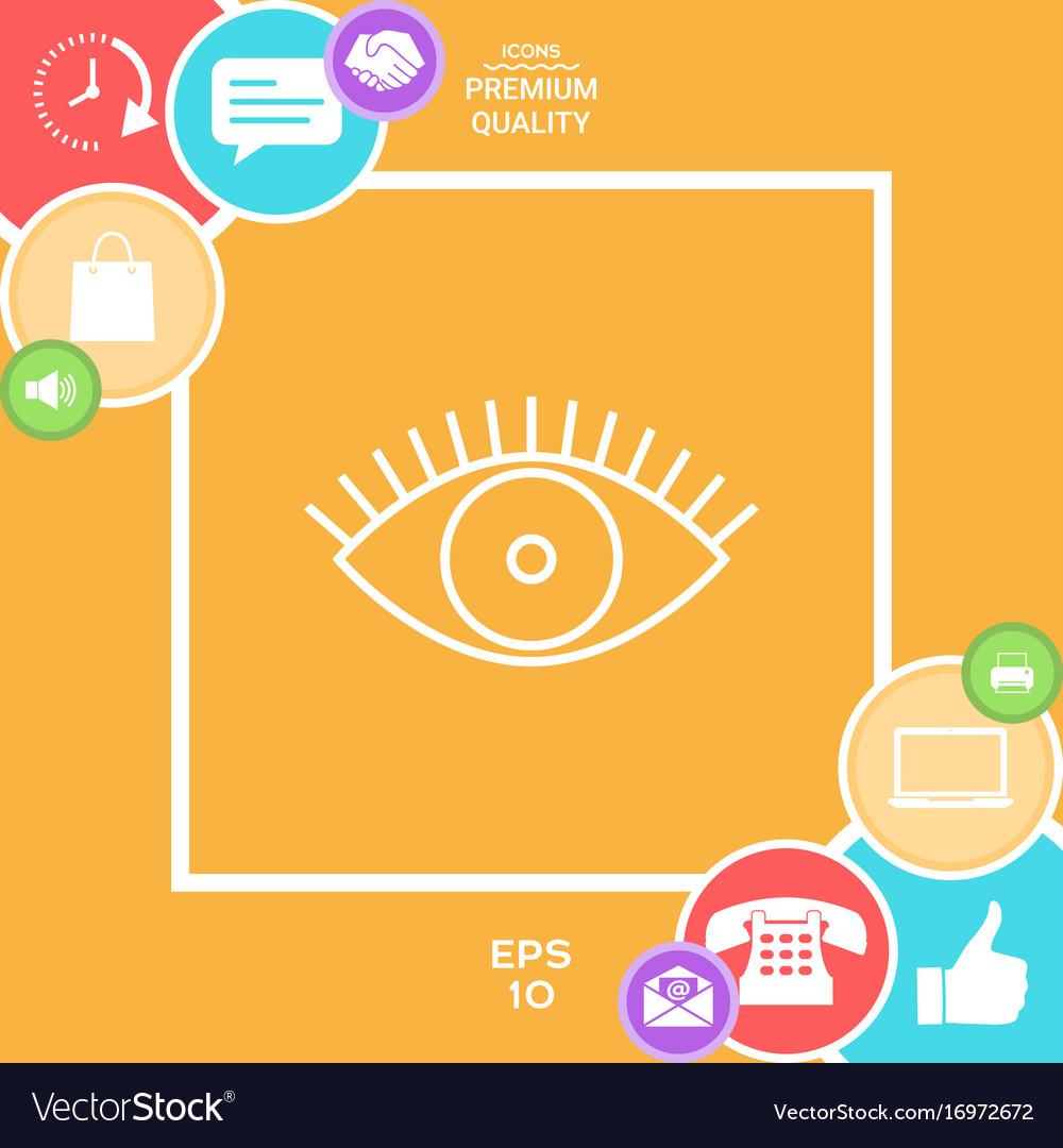 Eye icon - line concept