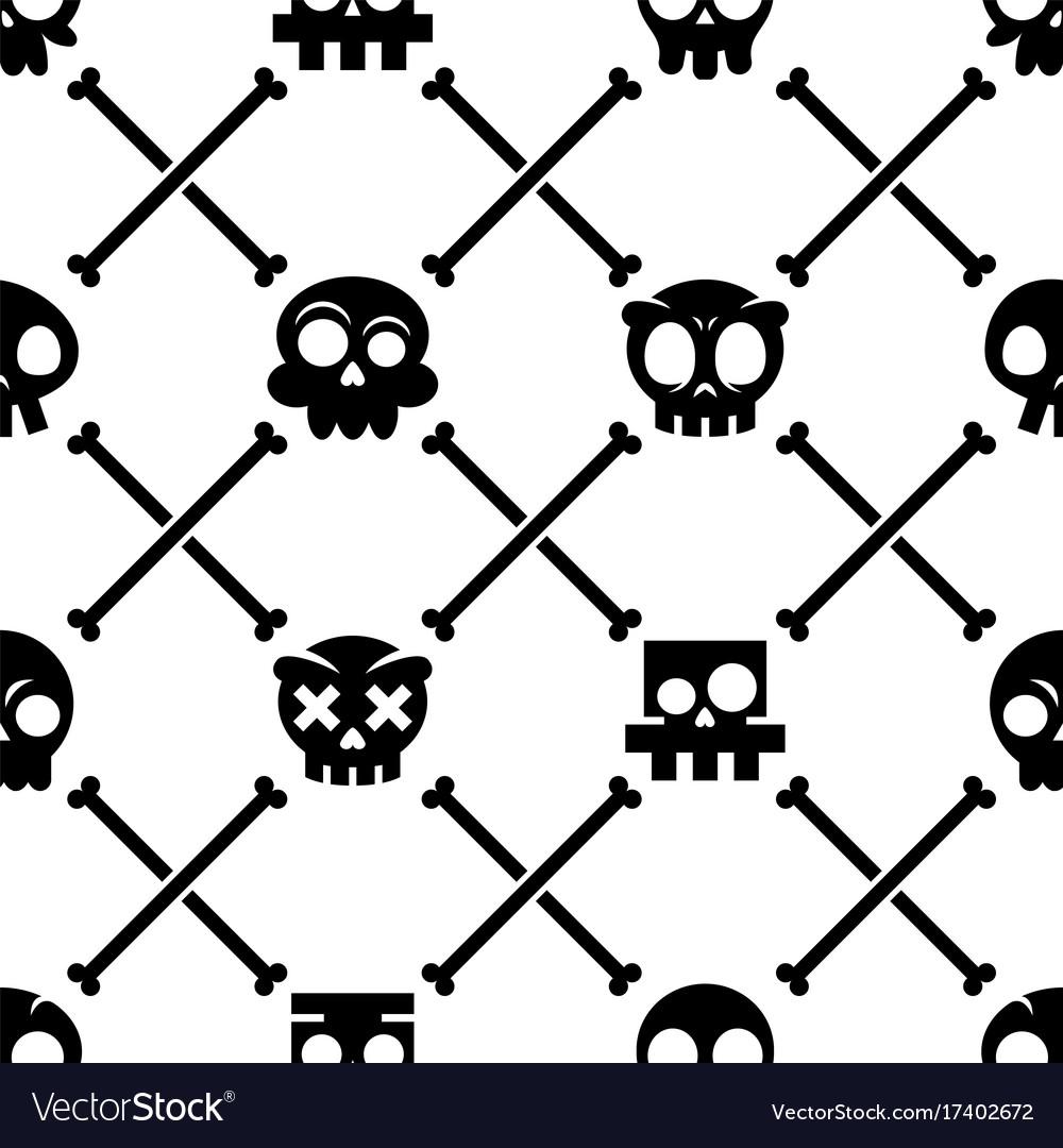 Halloween skull seamless pattern mexican c