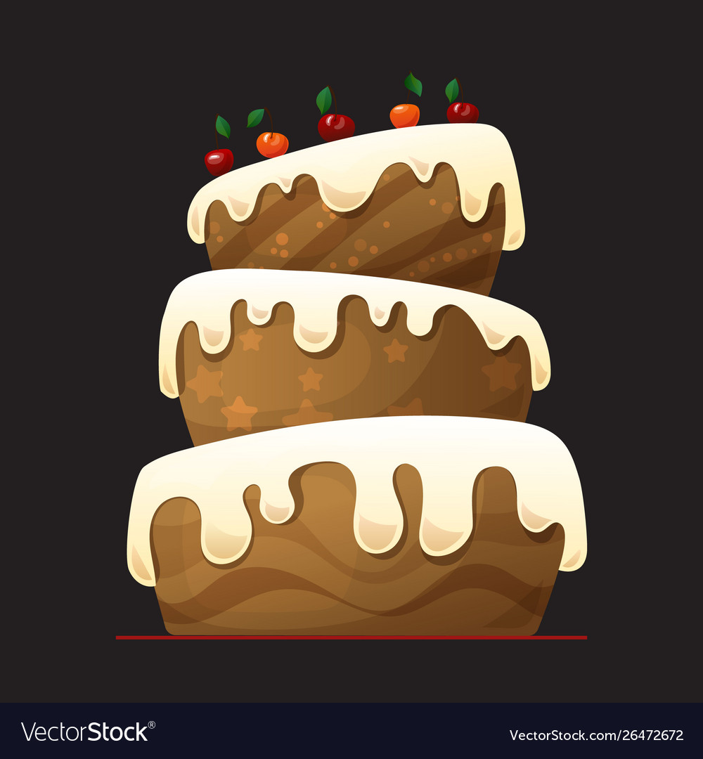 Happy birthday cake with chocolate
