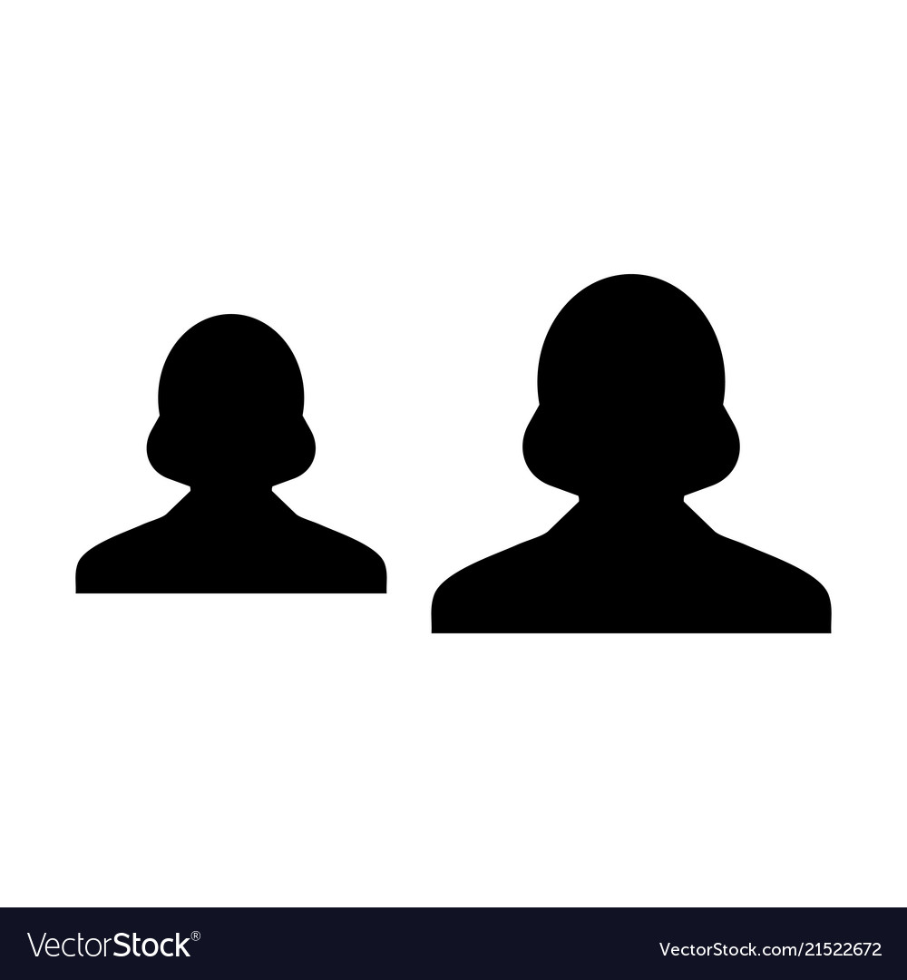 Hr Icon Female Group Of Persons Symbol Avatar Vector Image