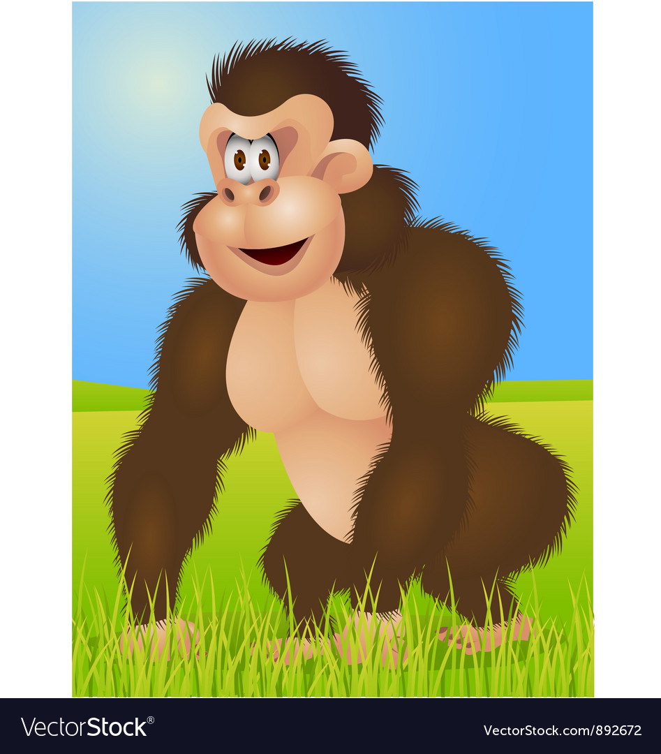 King kong cartoon vector image