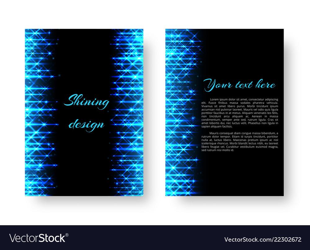 Rectangular invitation with neon light