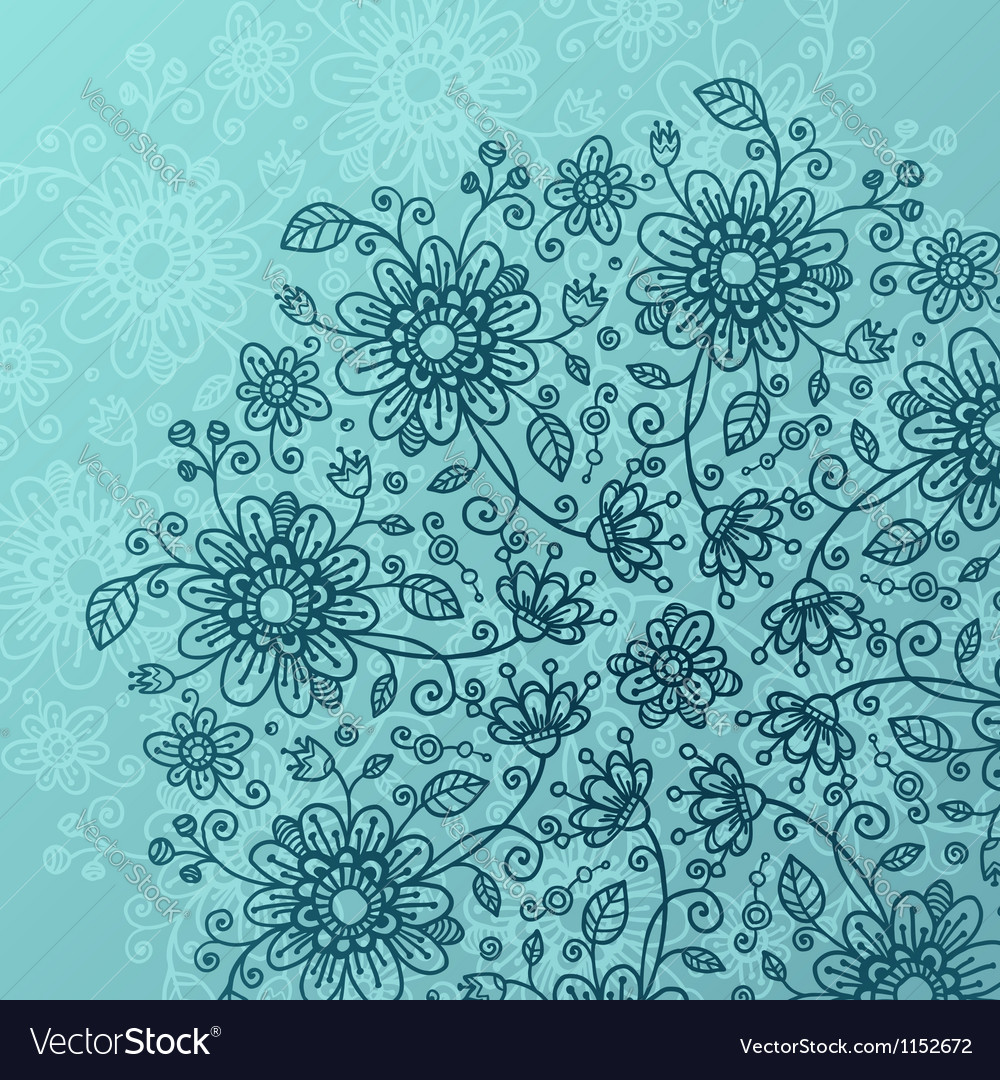 Sea blue flowers background royalty free vector image sea blue flowers background vector image izmirmasajfo