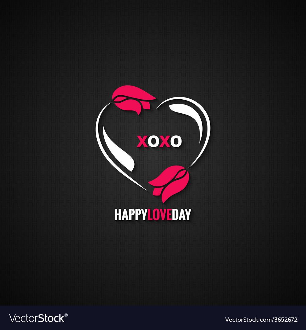 Valentines day flower concept background