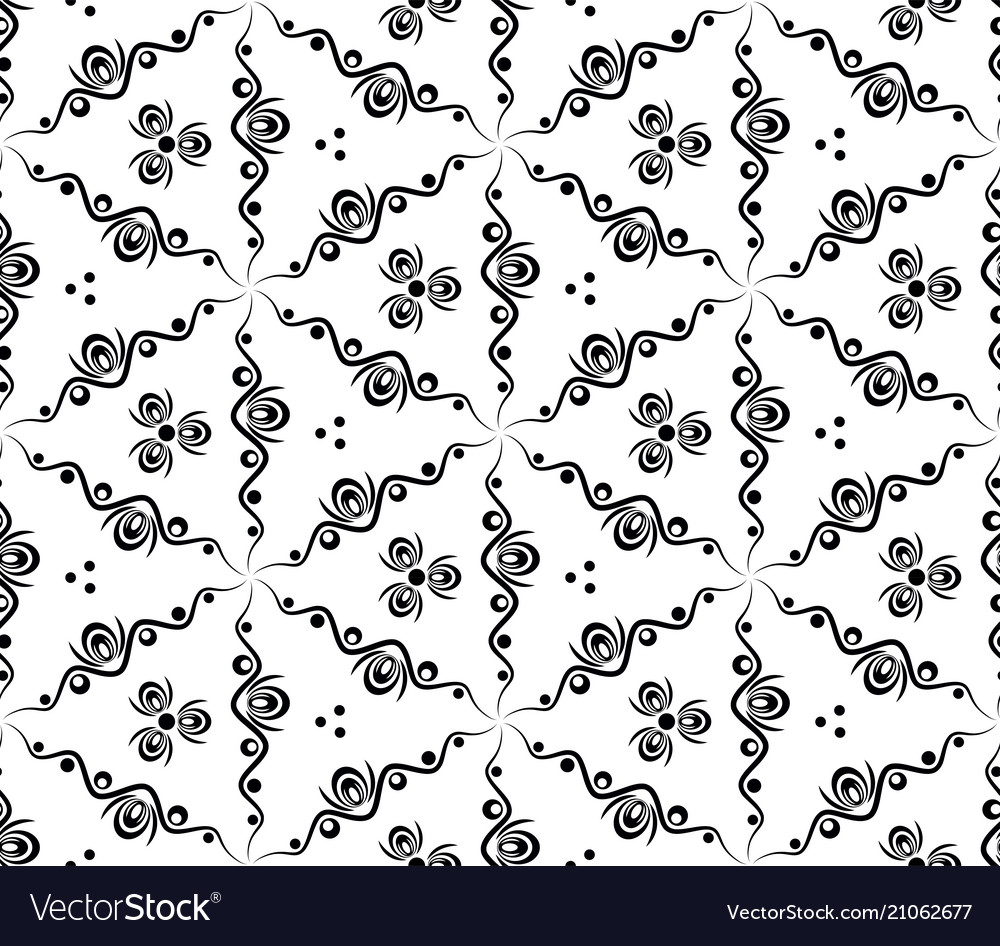 Abstract seamless pattern with waves and circles