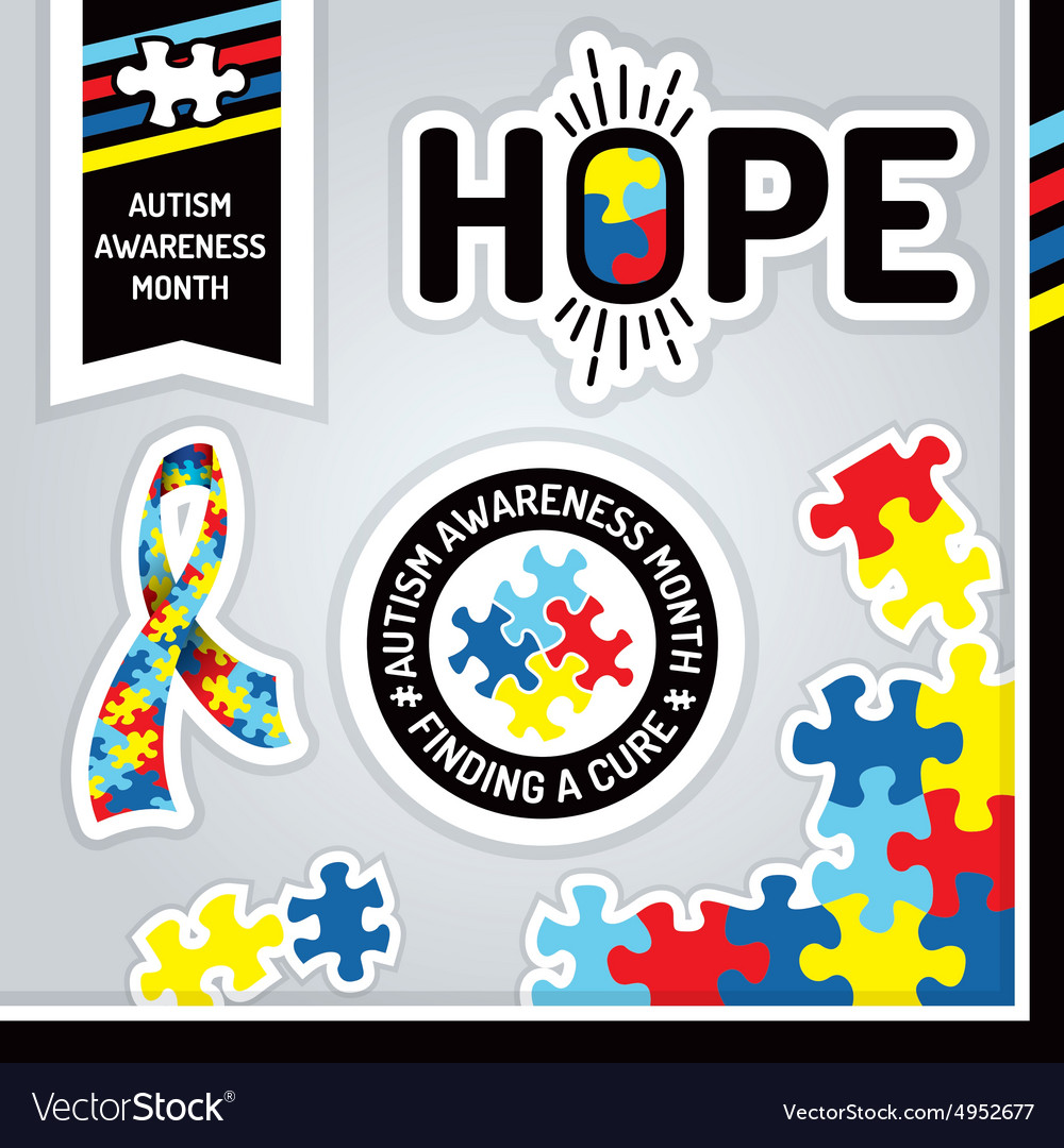 Autism Awareness Month Design Elements