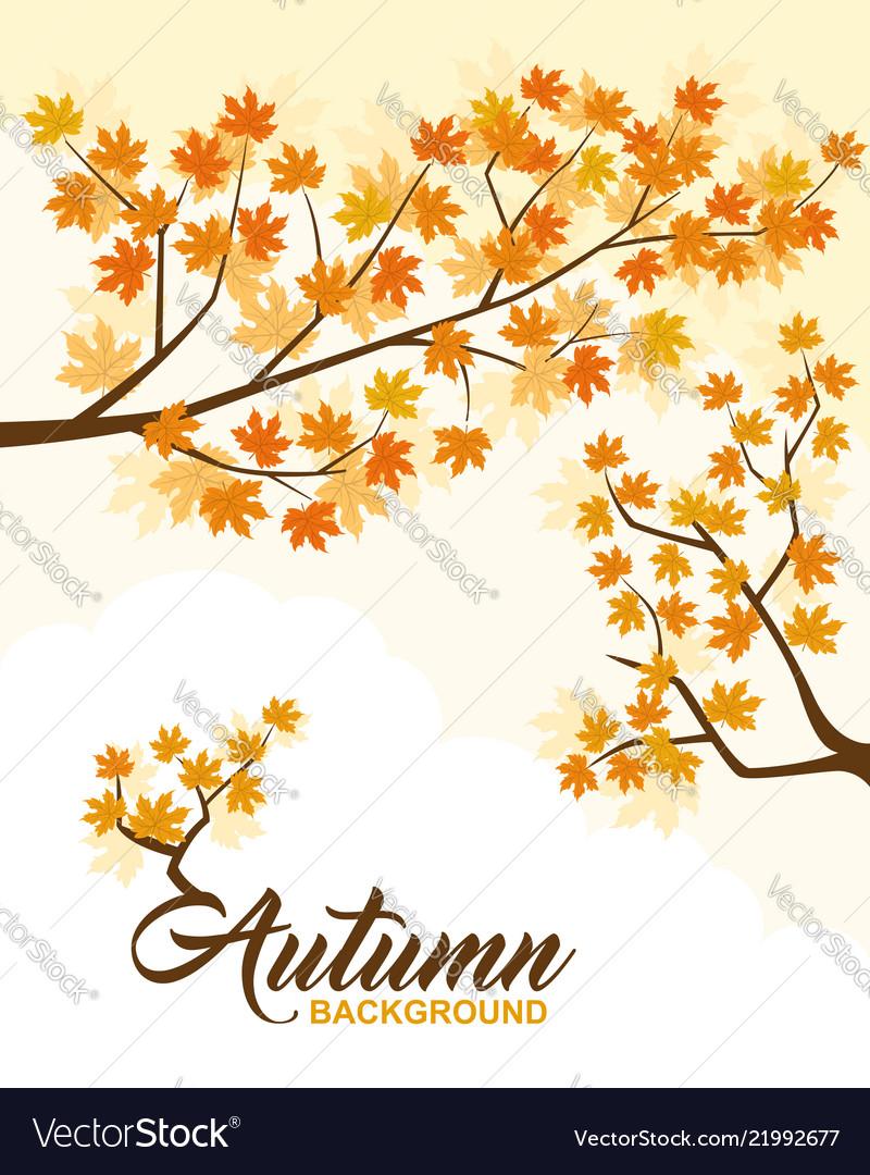 Autumn background design element