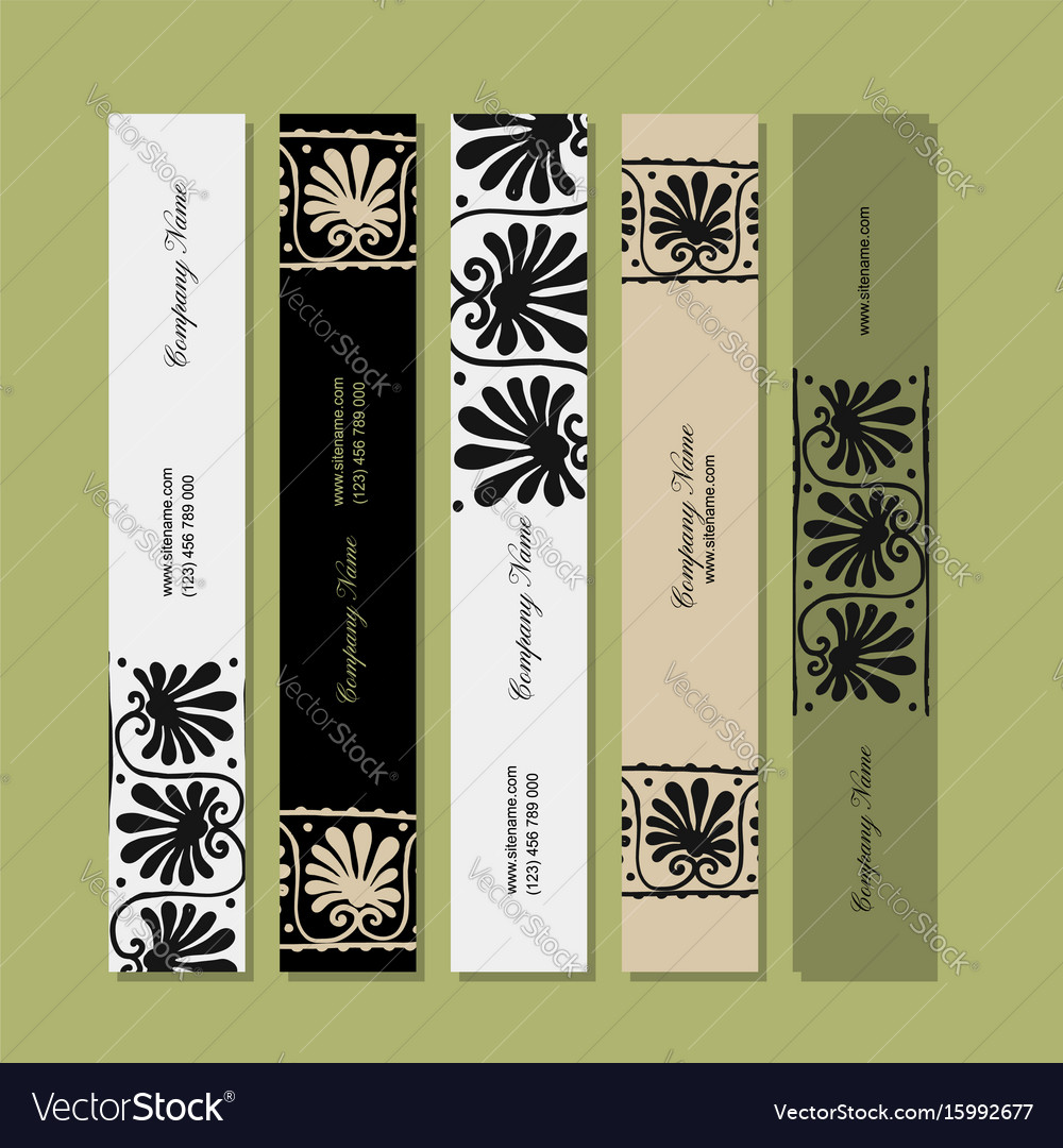 Banners design ethnic floral ornament vector image