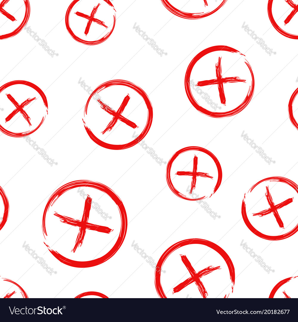 Check marks cross no wrong seamless pattern