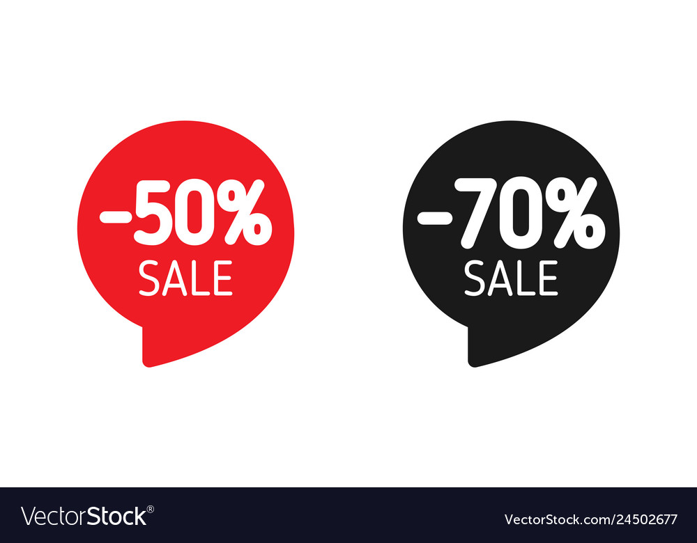 Discount banner sale 50 and 70 sale red and black