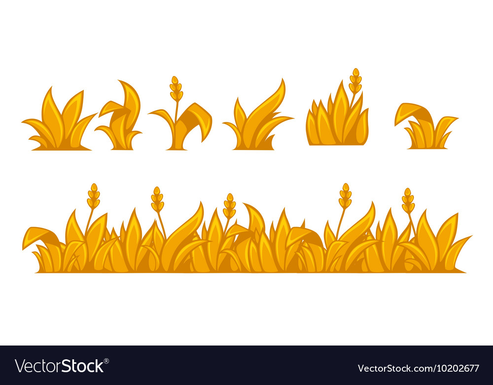 Ears of wheat horizontal border pattern vector image
