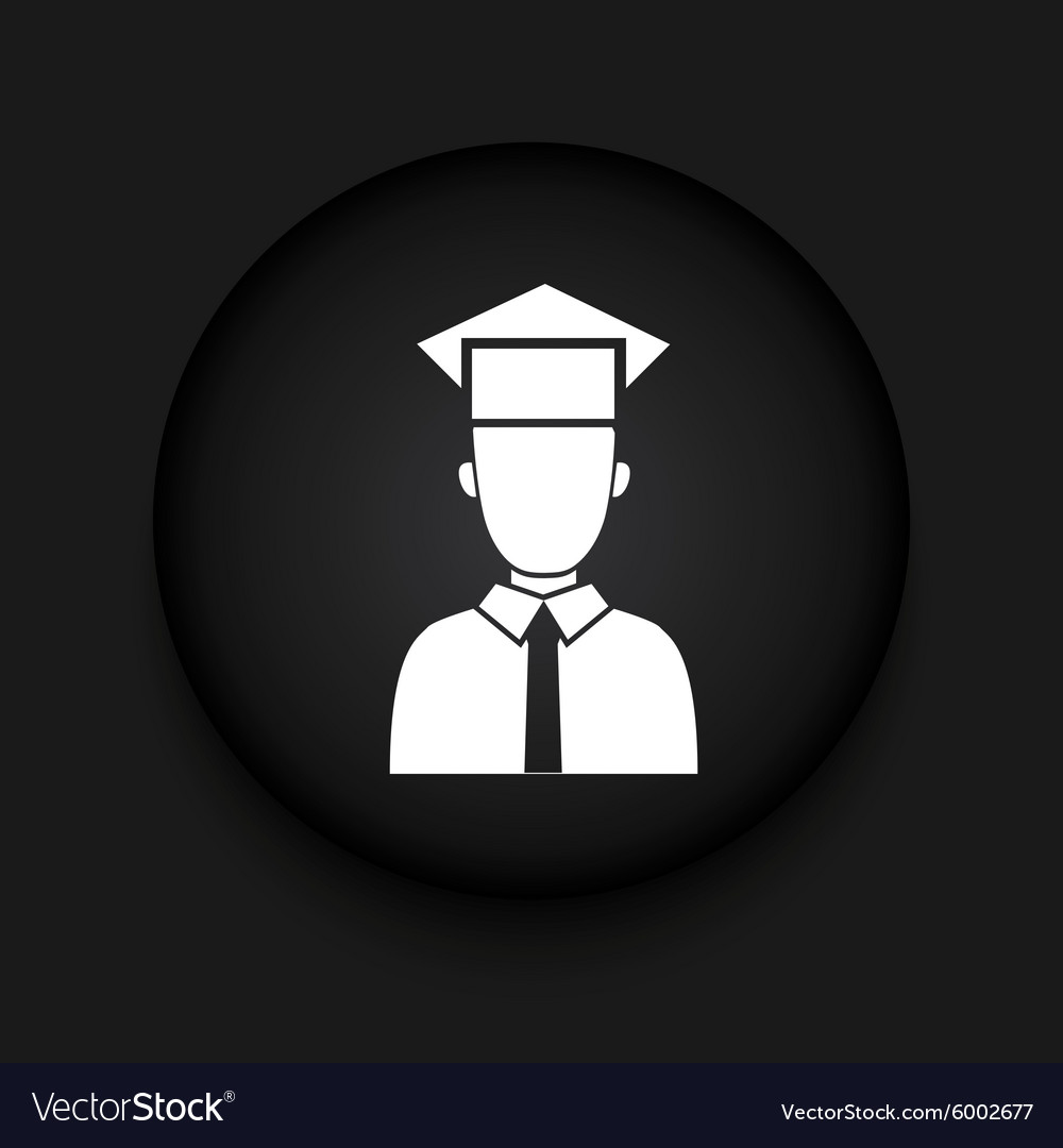 Modern student black circle icon vector image