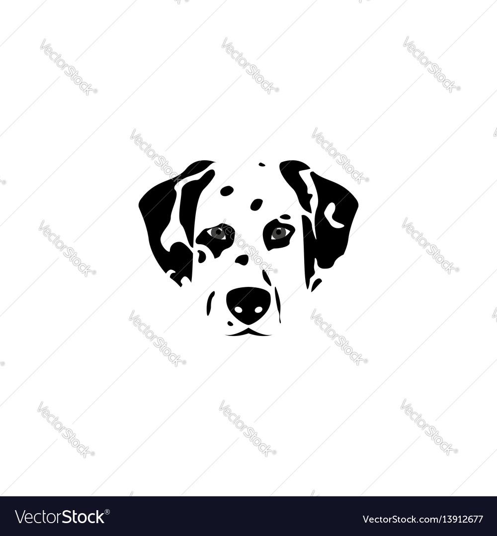 Silhouette dalmatian dog