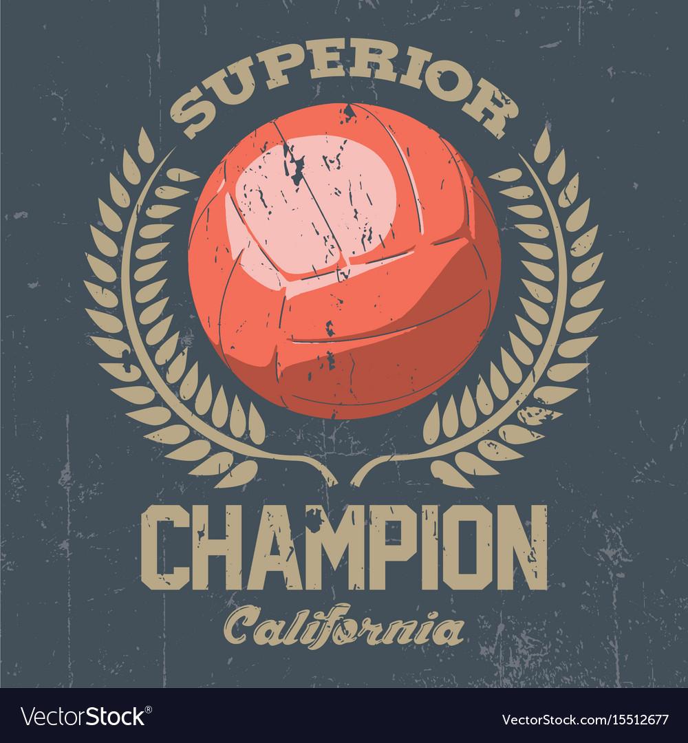 Superior california champion poster vector image