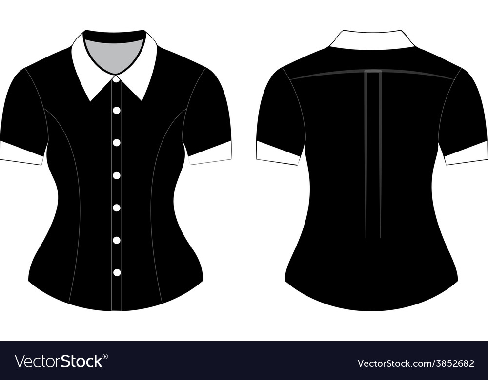 Blank shirt with short sleeves template royalty free vector blank shirt with short sleeves template vector image maxwellsz