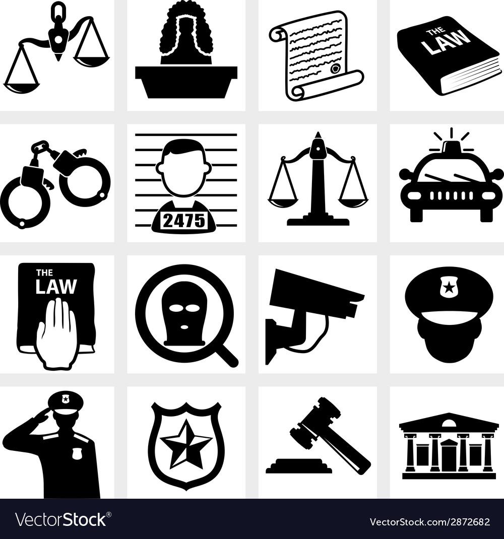 Court icon vector image
