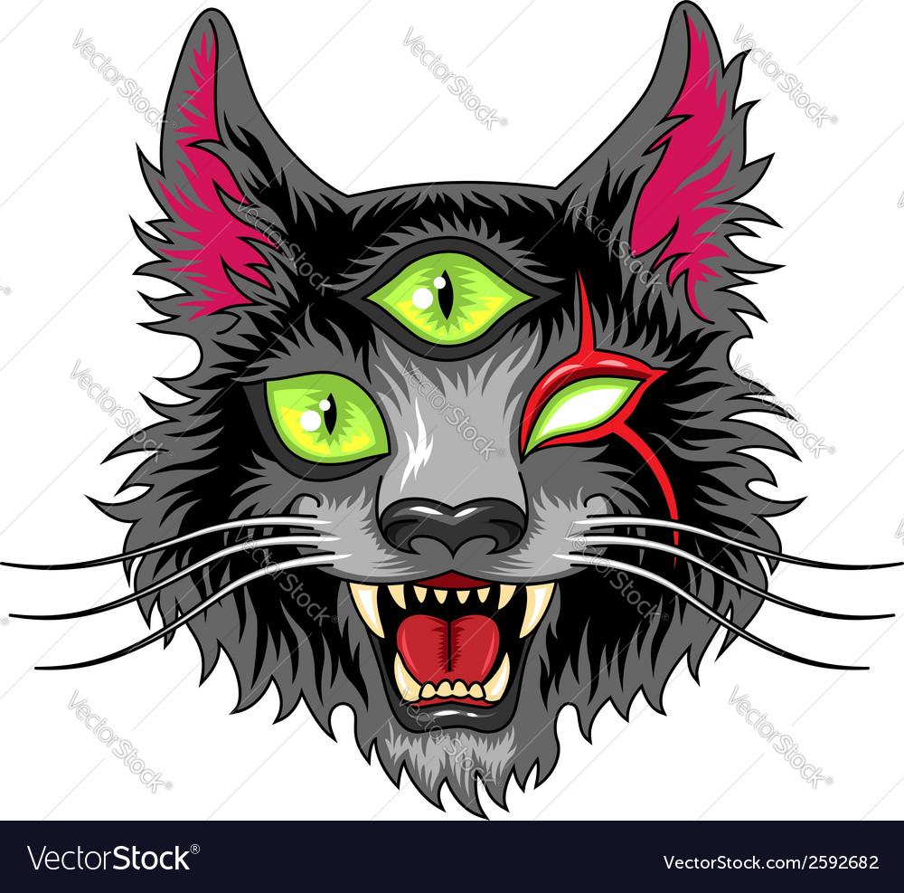 Devil cat black