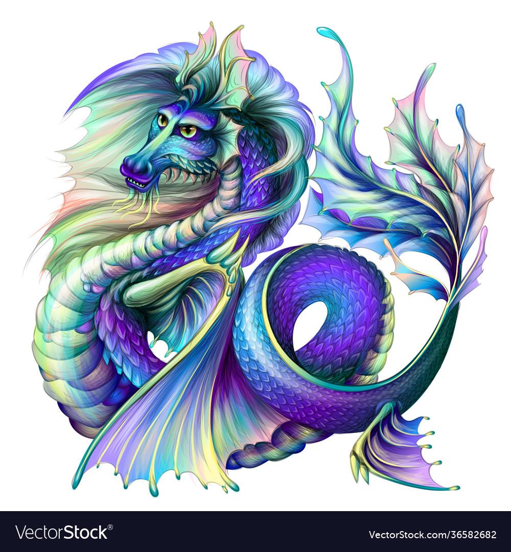 Dragon multi-colored water dragon