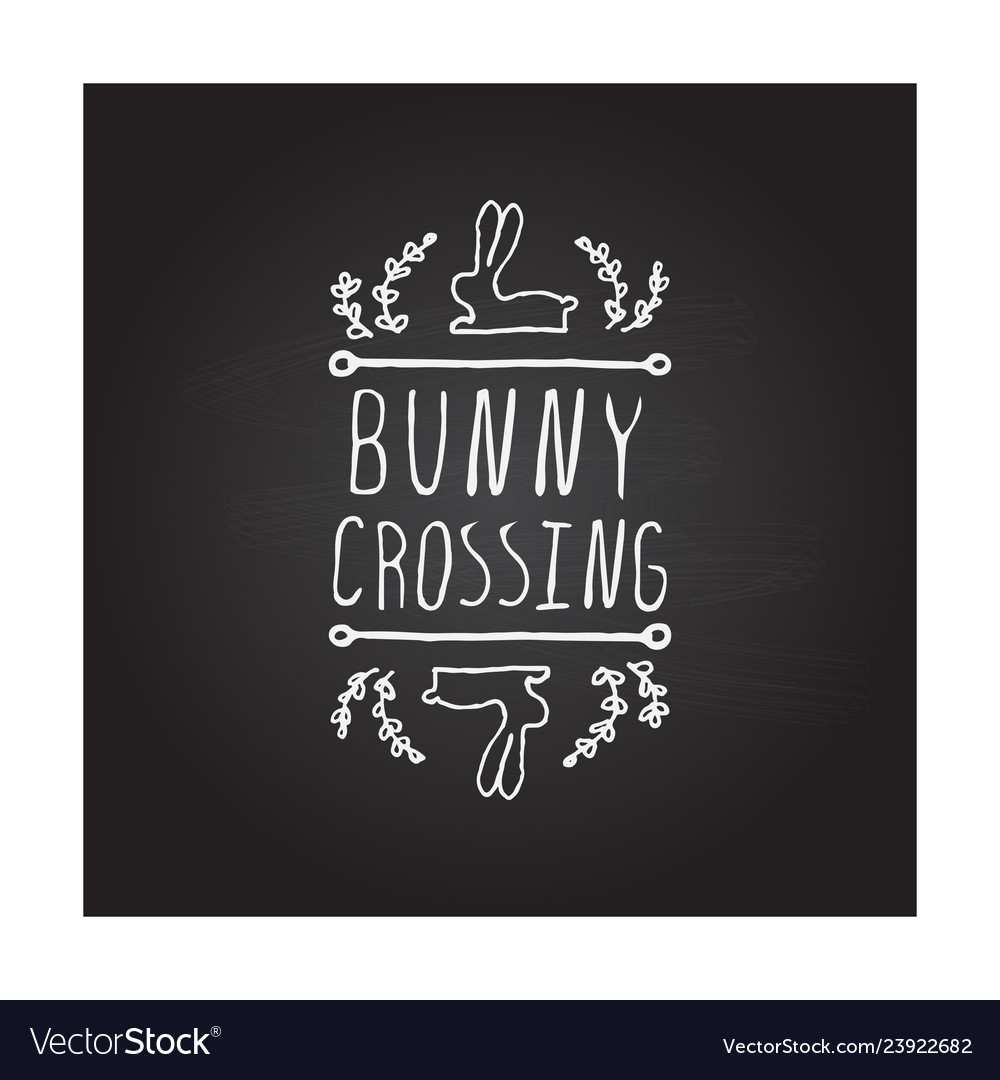 Hand drawn typographic easter element on