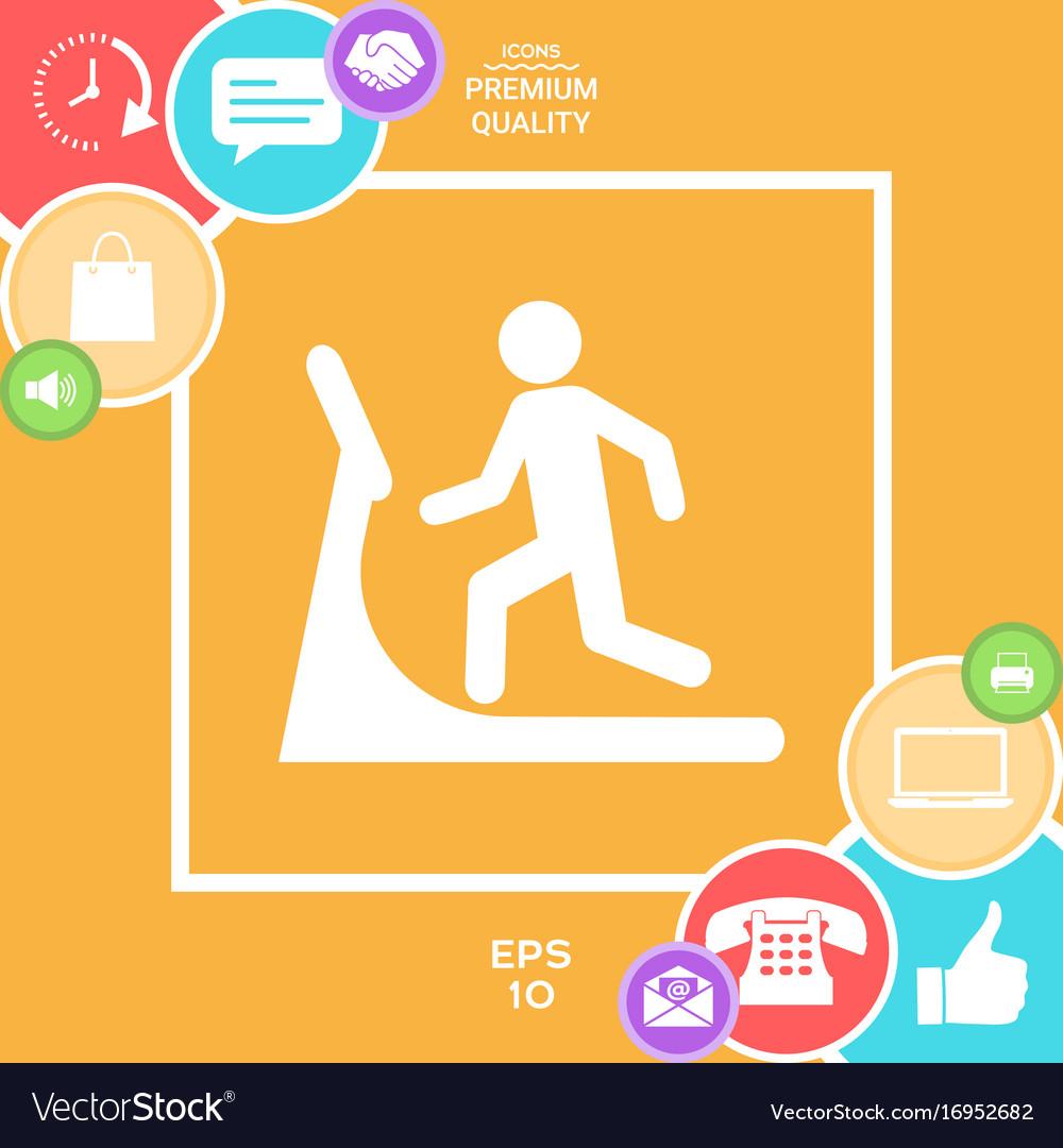Man on treadmill icon