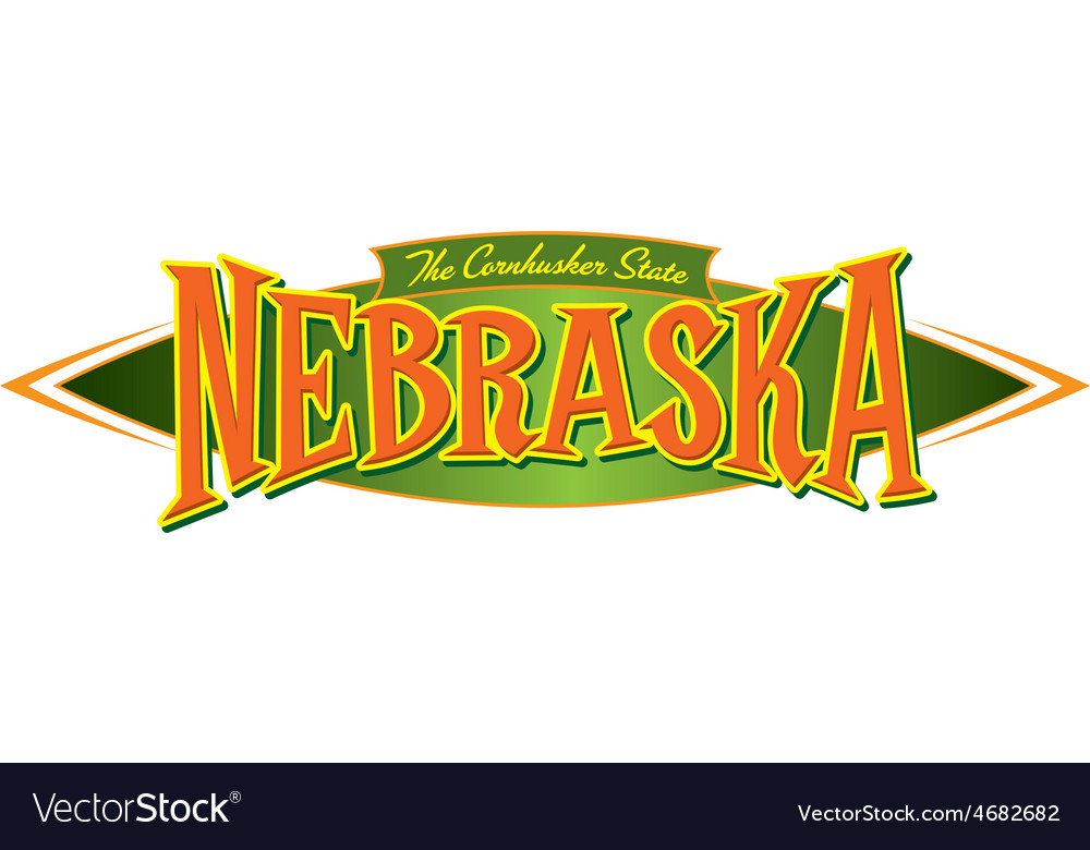 Nebraska The Cornhusker State vector image