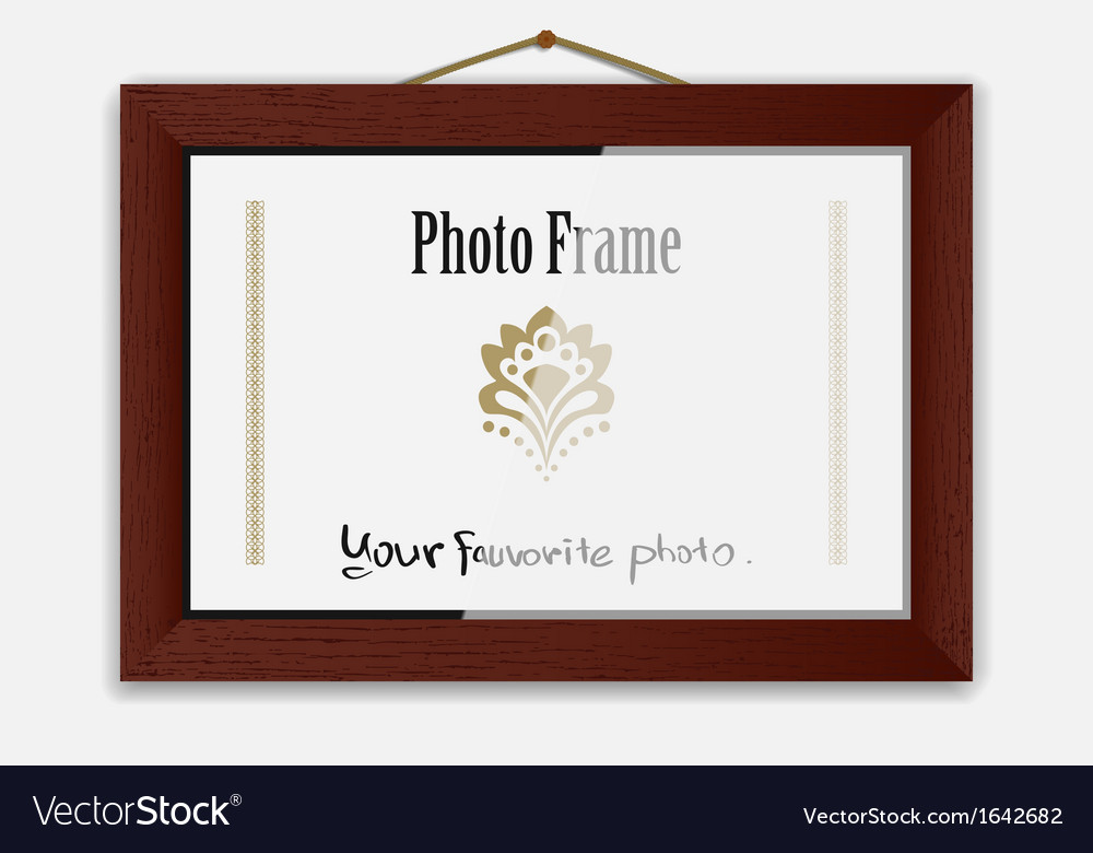Photoframe On Nail vector image