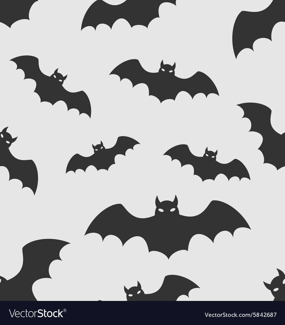 bat silhouettes halloween vector image
