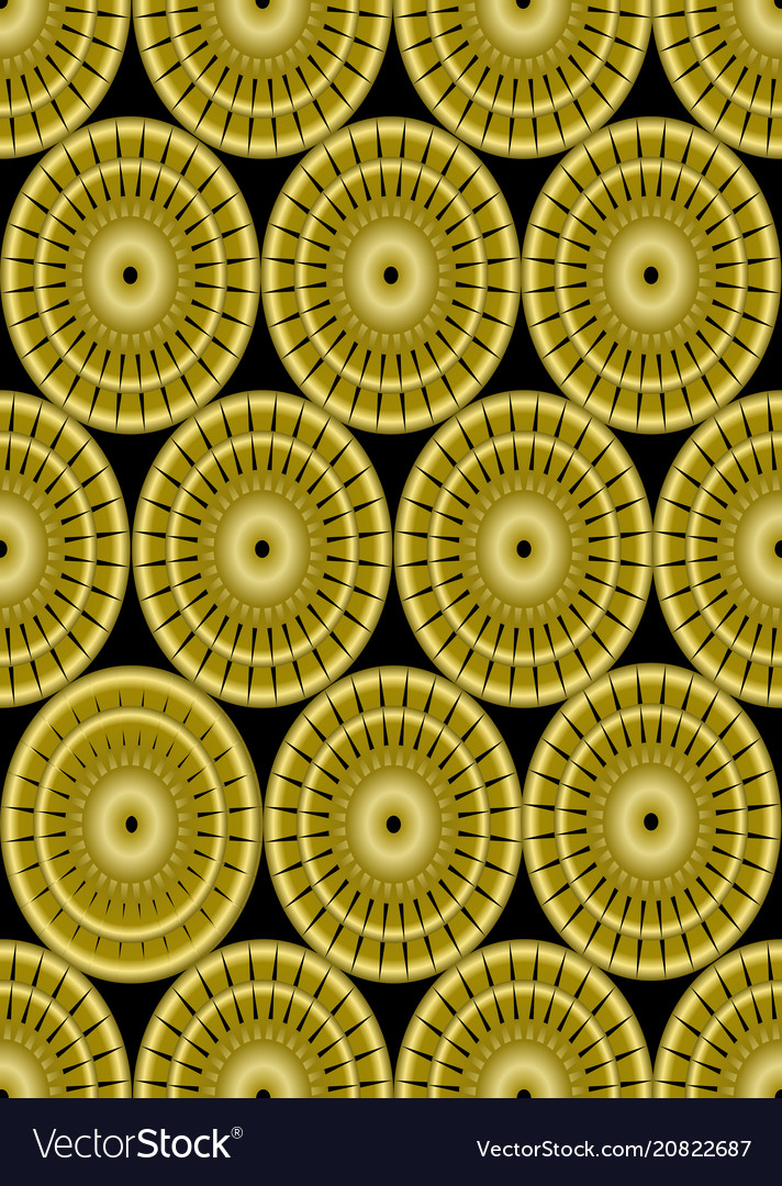 Classic gold patterns on black background