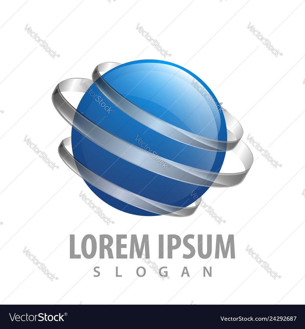 Global media blue sphere concept design symbol