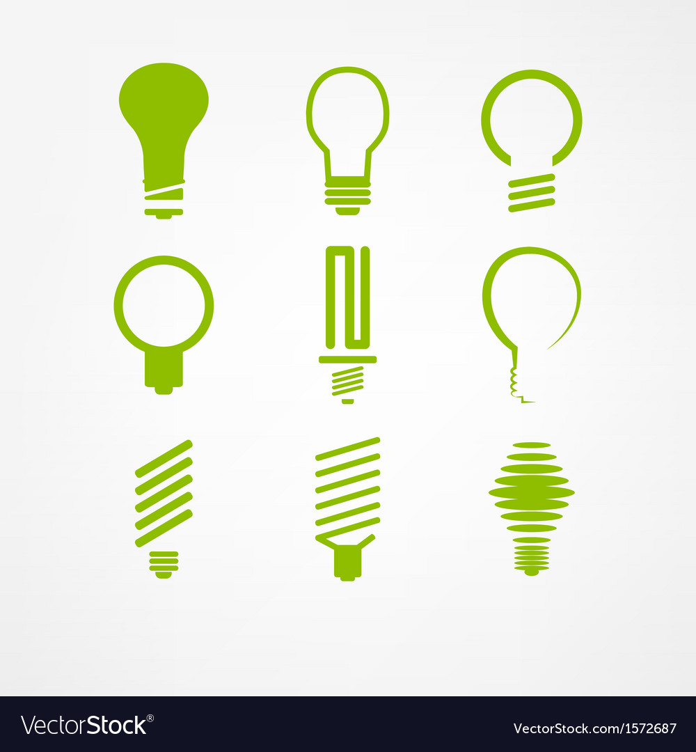Lightbulb icon set
