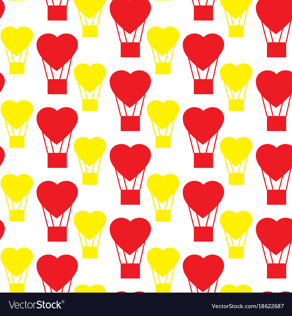 Pattern balloon in the shape of heart vector image
