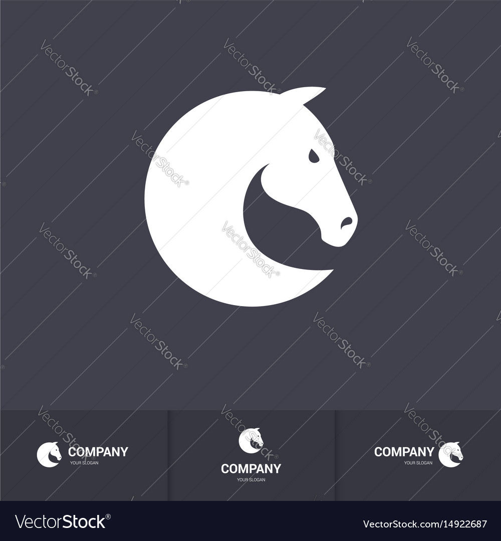 simple horse head for mascot logo template on vector image
